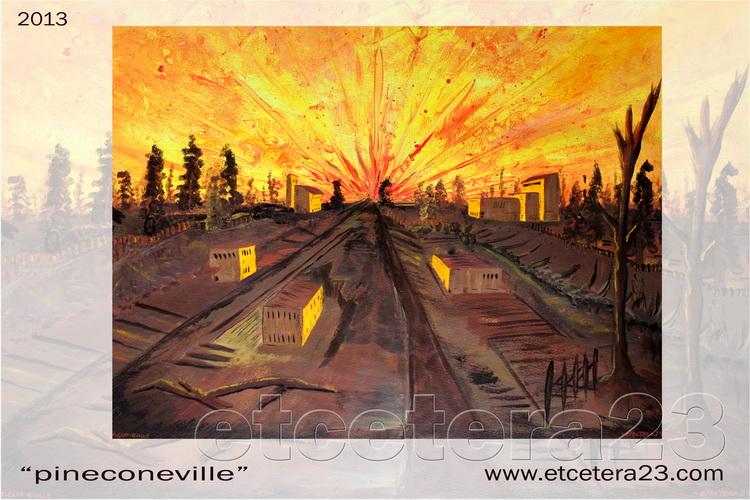 2013 - pineconeville - 56x42