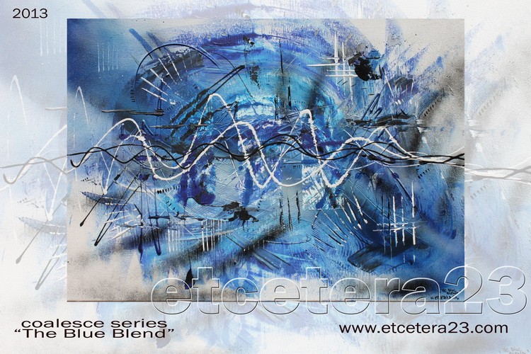 2013 - Coalesce Series - the blue blend - 70x50 - sold